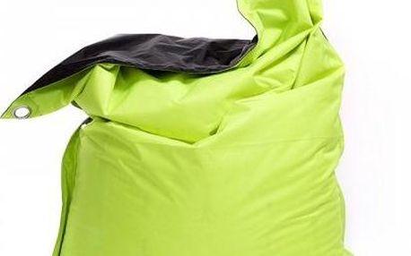 Sedací pytel Omni Bag Duo s popruhy Limet-Black 181x141 - SKLADOVÝ VÝPRODEJ