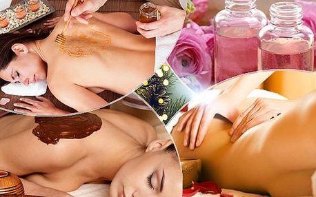 Balíček masáží ve studiu Leonis (až 170 min.)! Čokoládová, medová, růžová, celotělová, těhotenská aromatická!