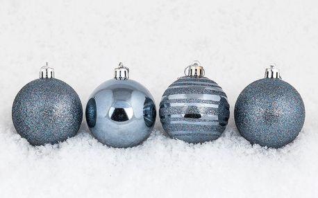 Vánoční koule 10 ks tmavě modrá, HTH, pr. 6 cm