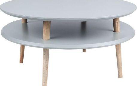 Konferenční stolek UFO 35x70 cm, tmavě šedý - doprava zdarma!