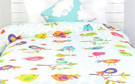 Little W Dětské povlečení Happy Spring, 140x200 cm, Vícebarevná