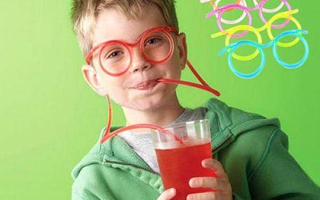 Brčko pro děti ve tvaru brýlí