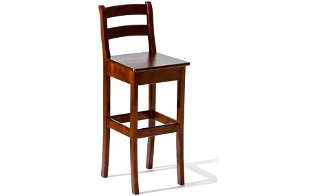 Barová židle H-8 siedzisko drewniane