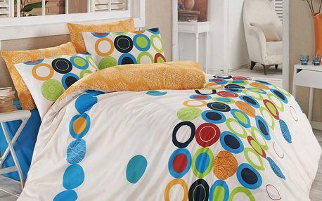 Night in Colours Bavlněné povlečení Beneton oranžová, 140 x 200 cm, 70 x 90 cm