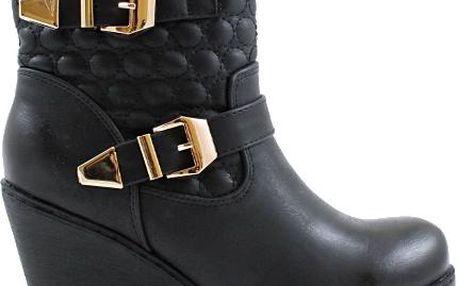 BLESS Kotníkové boty na klínku 1550B 40