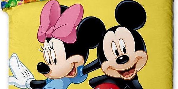 Jerry Fabrics Dětské povlečení Mickey and Minnie 2015 micro, 140 x 200 cm, 70 x 90 cm