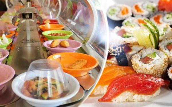 Running sushi - neomezená konzumace v délce 1,5 hod. pro 1 os. na Praze 1 u metra B Nám. republiky. DNES KONČÍ!