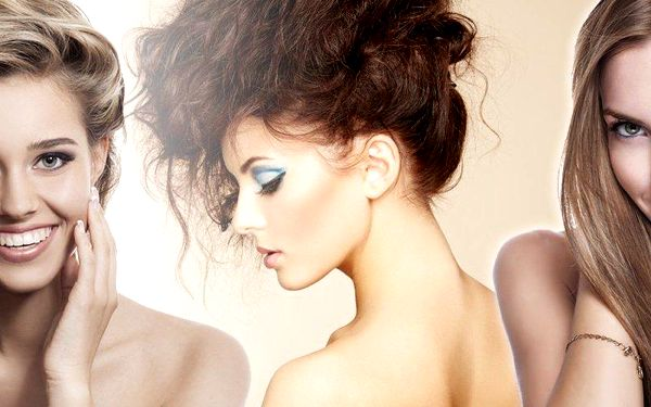 Různé varianty kadeřnických balíčků pro dámy v salonu Lady&Man v Plzni pro všechny délky vlasů.