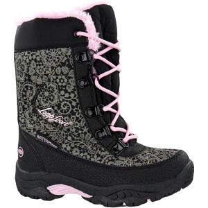 Dětské boty Loap COLL KID, černá/růžová