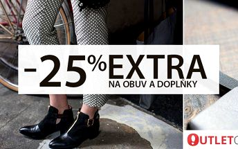 25% sleva na nabídku e-shopu Outlet-Obuv.cz
