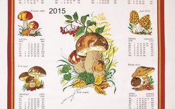Forbyt Textilní kalendář 2015 Houby, 45 x 65 cm