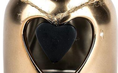 Zlatý svícen srdce