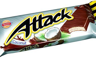 Sedita Attack Kokosová oplatka 30g