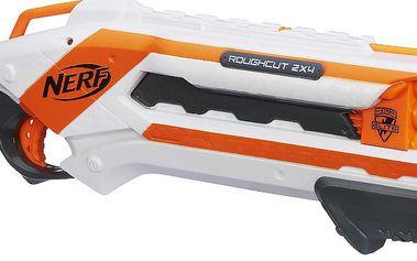 Nerf ELITE pistole střílí 2 šipky najednou bílá
