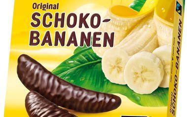 Casali Original pěnová cukrovinka s banánovou dření máčená v čokoládě 150g