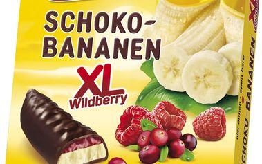 Casali Banánová pěnová cukrovinka plněná ovocným želé máčená v čokoládě 140g