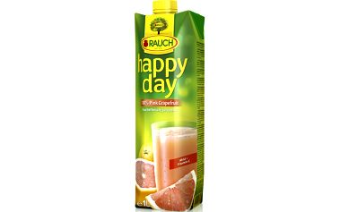 Rauch Happy Day 100% růžová grapefruitová šťáva s dužinou vyrobená z koncentrátu 1l