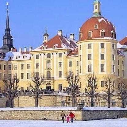 Advent na zámku Moritzburg a odpolední Dráždany