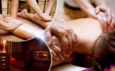130minutová olejová Andělská masáž celého těla dvěma masérkami včetně saunování, peelingu a bahenního zábalu!