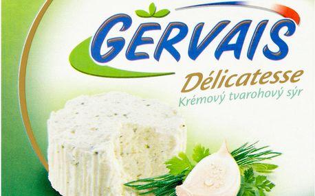 Gervais Délicatesse Krémový tvarohový sýr s česnekem a bylinkami 80g