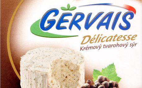 Gervais Délicatesse Krémový tvarohový sýr s černým pepřem 80g