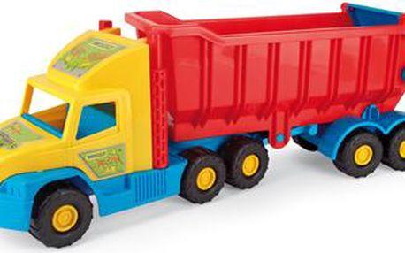 Wader Auto Super Truck sklápěč plast 75 cm v síťce