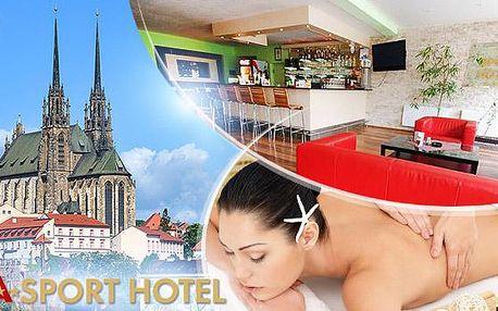 Brno na 3 nebo 4 dny pro 2 osoby včetně polopenze a WiFi v Hotelu A-SPORT***! Děti do 6 let zdarma!