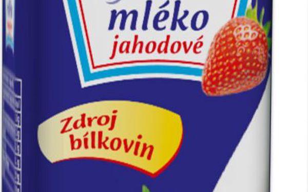Mlékárna Kunín Kefírové mléko jahodové 480g