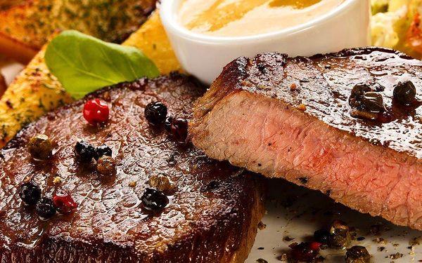 Lovecký steak s přílohou pro dva