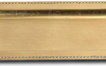 Tác na svíčky 35 x 18 cm, zlatá