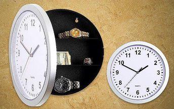 Hodiny s tajným úložným prostorem: skvělé na peníze, šperky nebo klíče!