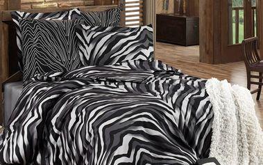 Tip Trade Bavlněné povlečení Bengal černá, 140 x 220 cm, 70 x 90 cm