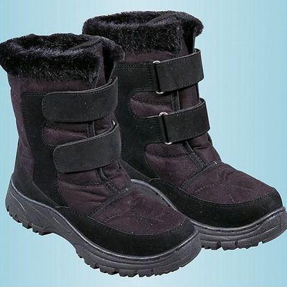 Zimní obuv s kožíškem, černá, 37