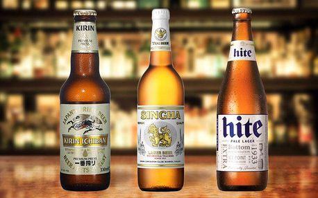 Sada tří exotických piv z Asie