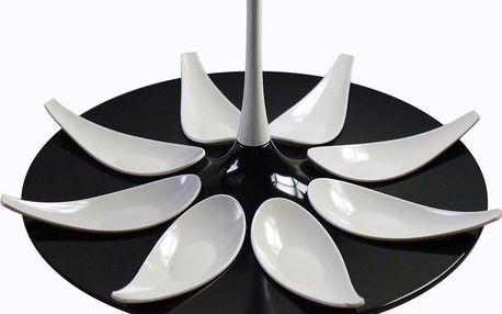 Servírovací set na jednohubky Entity Black/White