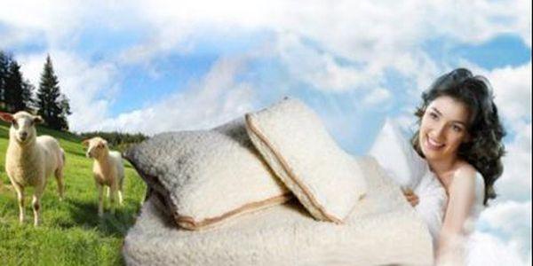 Set z ovčí vlny - hřejivá přikrývka a polštáře