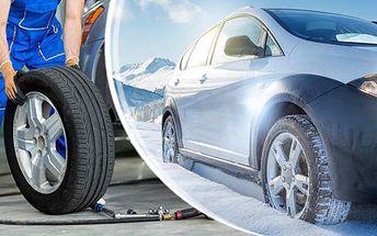 Přezutí pneumatik pro opozdilce! Z letních na zimní, nebo ze zimních na letní - platí do konce března!