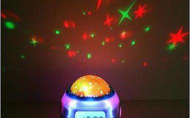 Relaxační budík s projektorem noční oblohy - Proměňte pokojíček na hvězdné nebe.