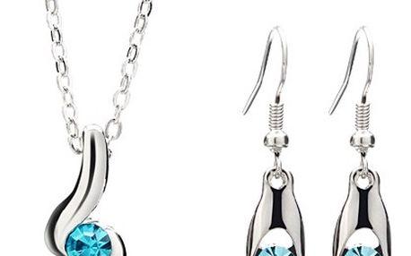 Elegantní sada náhrdelníku a náušnic