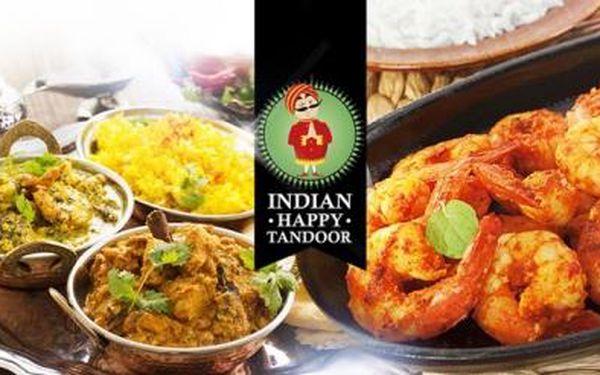 KONZUMACE v hodnotě 600 Kč v tradiční indické restauraci INDIAN HAPPY TANDOOR blízko metra C Kobylisy!
