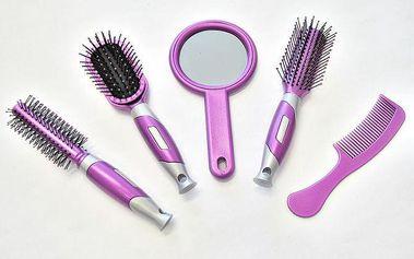Kompletní sada na úpravu vlasů fialová
