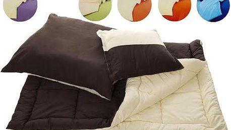 Antialergická posteľná súprava paplón, vankúš a malý vankúš.
