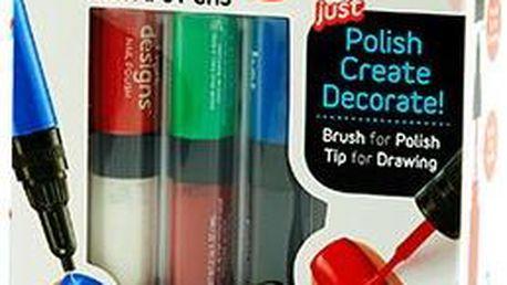 Zdobicí pera na nehty Hot Designs