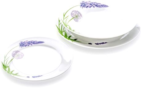 Florina 18dílná talířová sada Lawenda