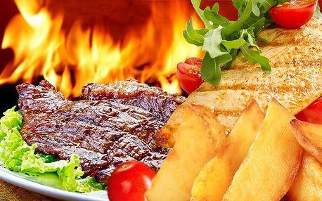 900gramový gril mix se třemi druhy masa a oblohou v Gyros & Grill Baru ve Frýdku-Místku