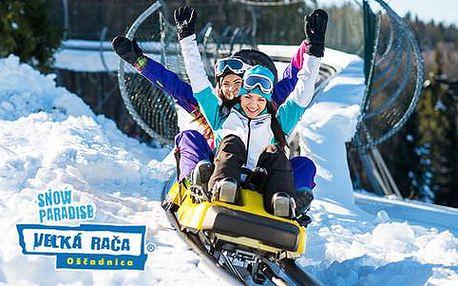Adrenalinová bobová dráha v Snowparadise Veľká Rača