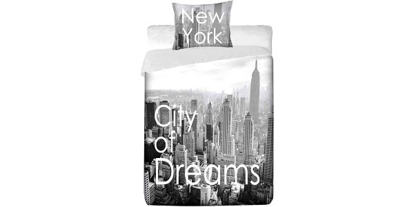 Jerry fabrics Povlečení New York Manhattan bavlna 140x200 70x90