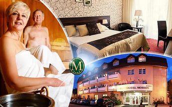 Parkhotel Morris Nový Bor - wellness pobyt na 5 dní pro dva s polopenzí a 2 obědy! Sauna, vířivka, aquapark ad.