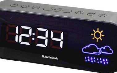 Radiobudík audioSonic CL-1489 s předpovědí počasí