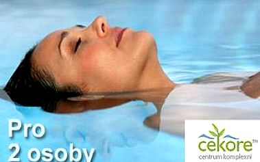 Relaxační a léčebná FLOATING terapie pro dvě osoby v délce 60 minut. Dokonalá relaxace těla i mysli.